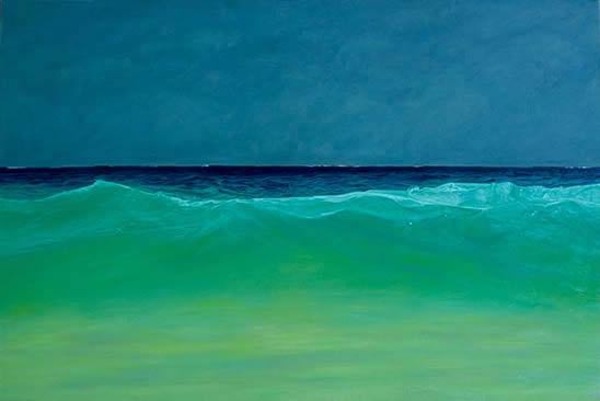 "Oceana, 42""x 62"", oil on canvas"