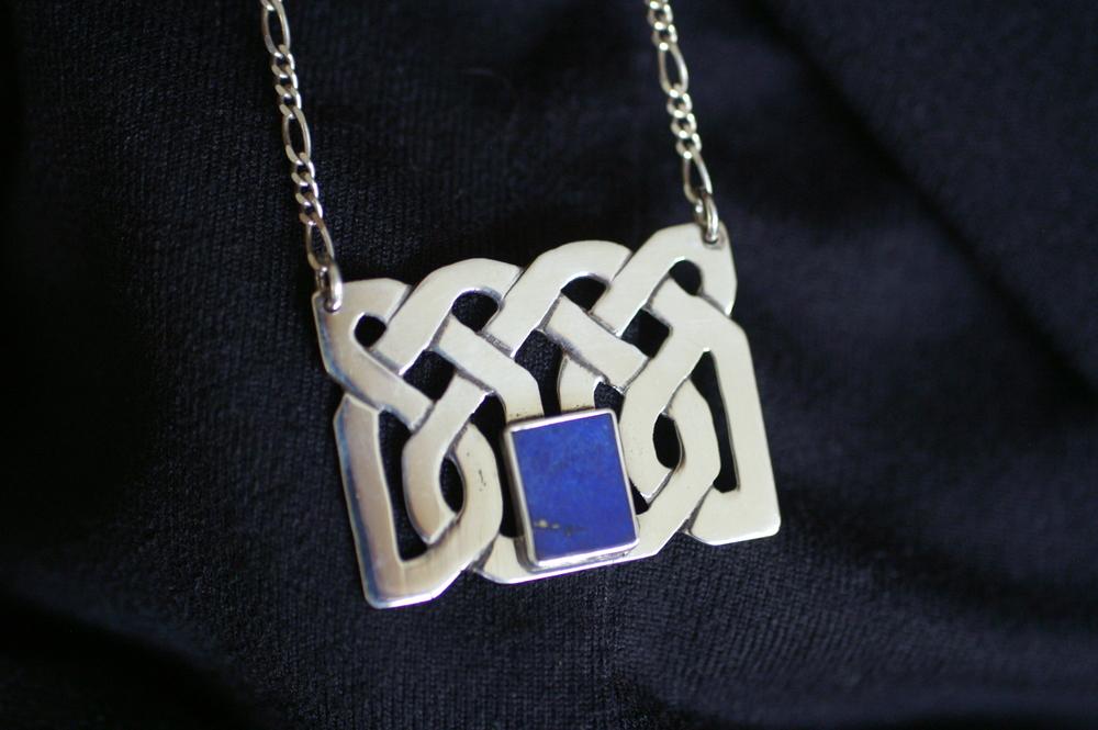 #5013. Celtic Box.  $125.Lapis Lazuli