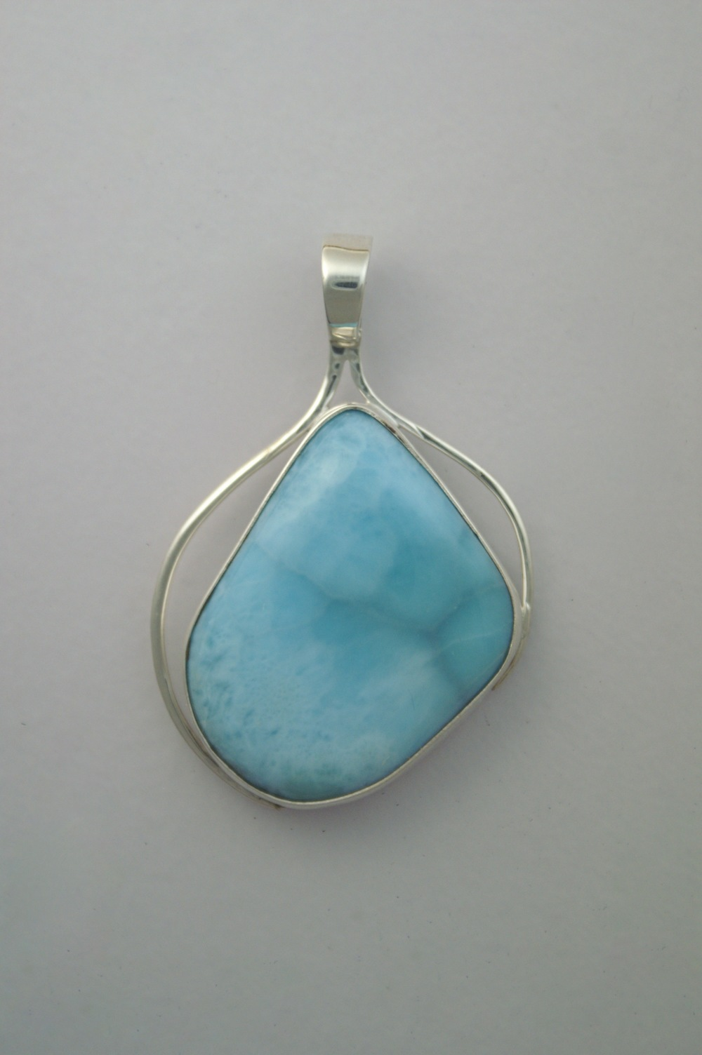 "#3147 Larimar Lace  $225. 1.50"" x 2""     Dominican Republic"