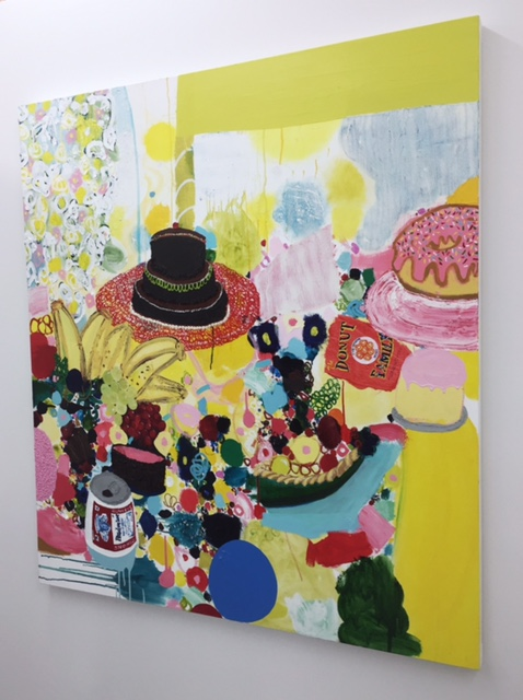"Tracy Miller, ""Banana Stand"" 2016, Oil on Canvas, 54"" x 48"""