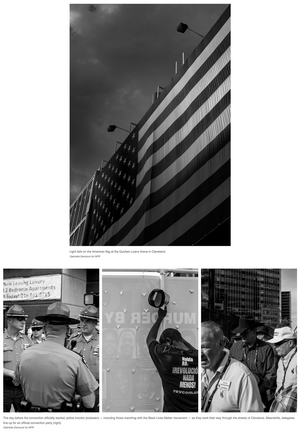 Photography:  Gabriella Demczuk   Photo Editing + Direction: Ariel Zambelich  Story: True Believers, Protesters And Trump: Scenes From Cleveland