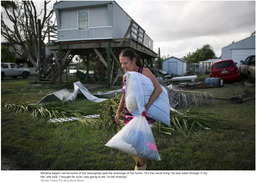 Photography: Nicole Craine for Buzzfeed News  Photo Editing + Text: Ariel Zambelich  Story:  Picking Up The Pieces In Florida After Irma's Devastation