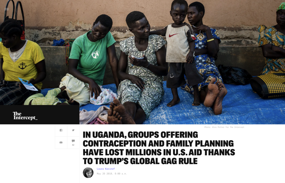 Photography: Alex Potter  Photo Editing: Ariel Zambelich  Story:  In Uganda, Groups Offering Contraception And Family Planning Have Lost Millions In U.S. Aid Thanks To Trump's Global Gag Rule