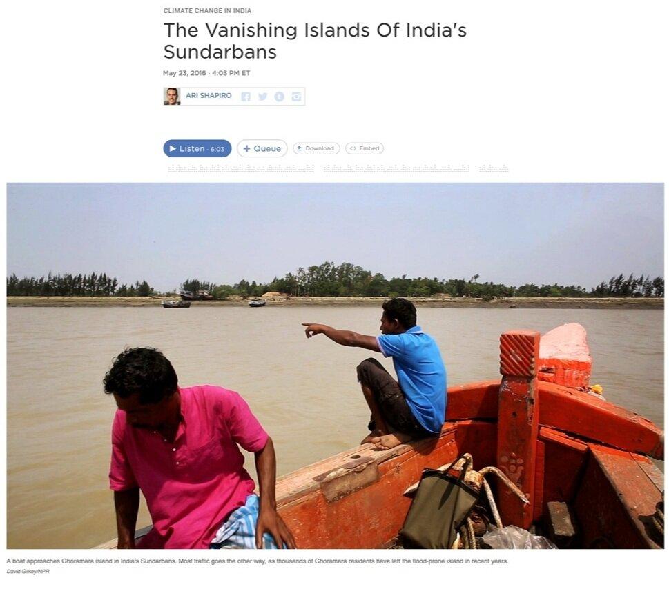 Photography + Videography: David Gilkey  Photo Editing + Direction: Ariel Zambelich  Story: The Vanishing Islands Of India's Sundarbans