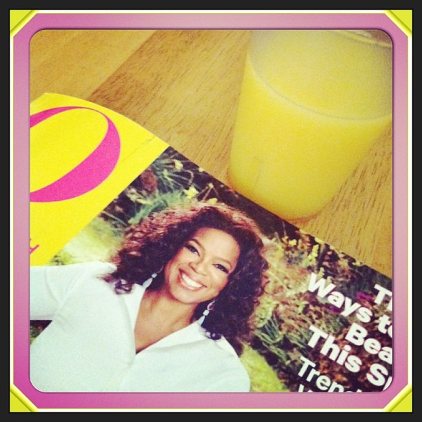 Catching up on some #OJ & #Oprah #quiet #afternoon #sunshine
