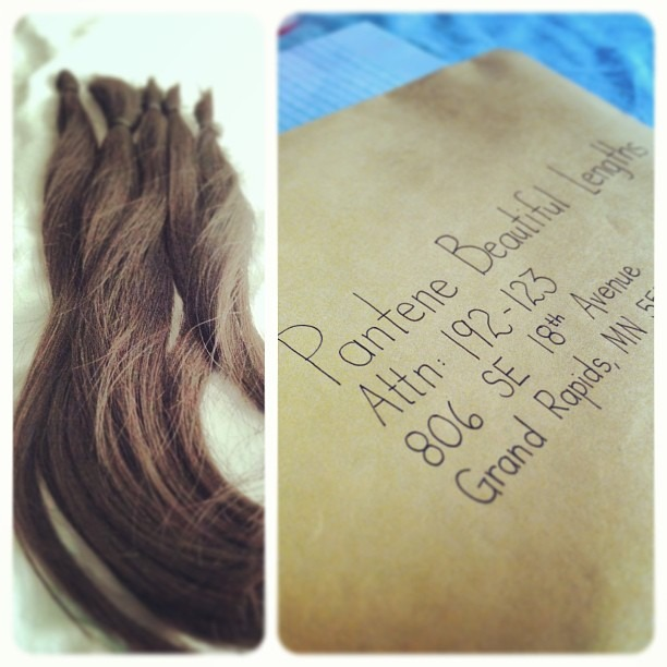 As empowered as I felt when I recently shed off 16 inches of hair, I wish for her to feel the same sense of empowerment when she puts on her new 16 inches of hair. #americancancersociety #hair #donation #wig #realhair #love #pantene #beautiful #lengths #empowerment