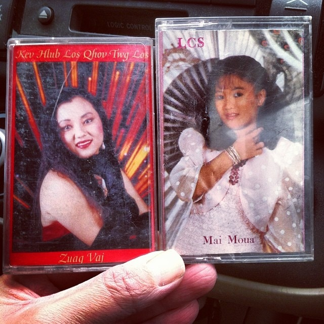 Taking advantage of the vintage cassette player in @xyoojnancy's car. Which childhood artist should I play? #cassette #tape #zuagvaj #maimoua #classics #roadtrip #hmongnewyear #hmoob #hmong #northcarolina