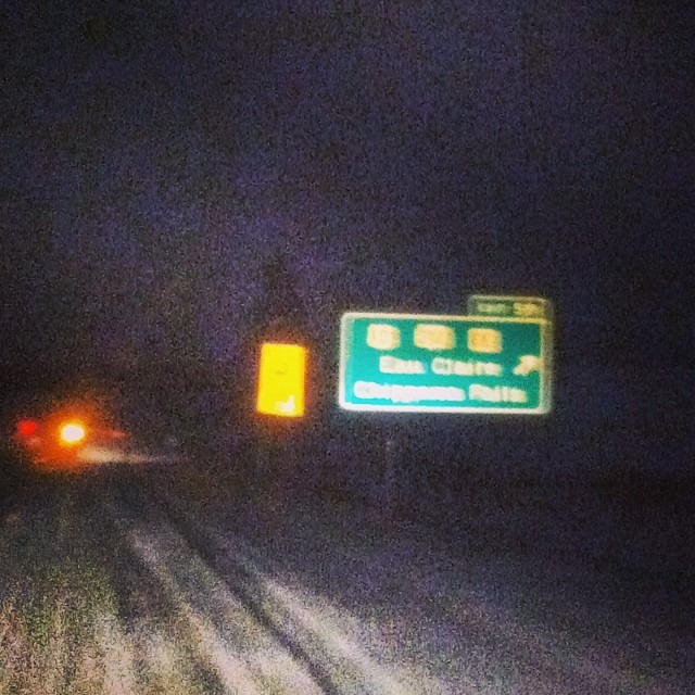 Exit 59. #homeforchristmas #whitechristmas #eauclaire