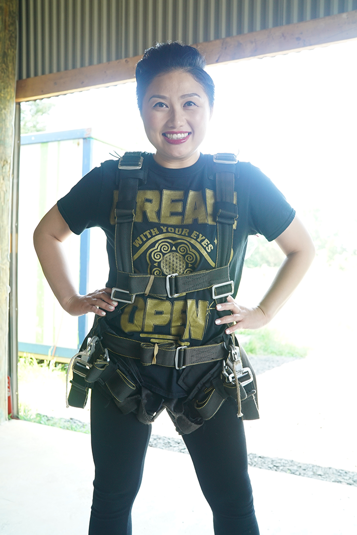 All harnessed up!  Let's goooooo!
