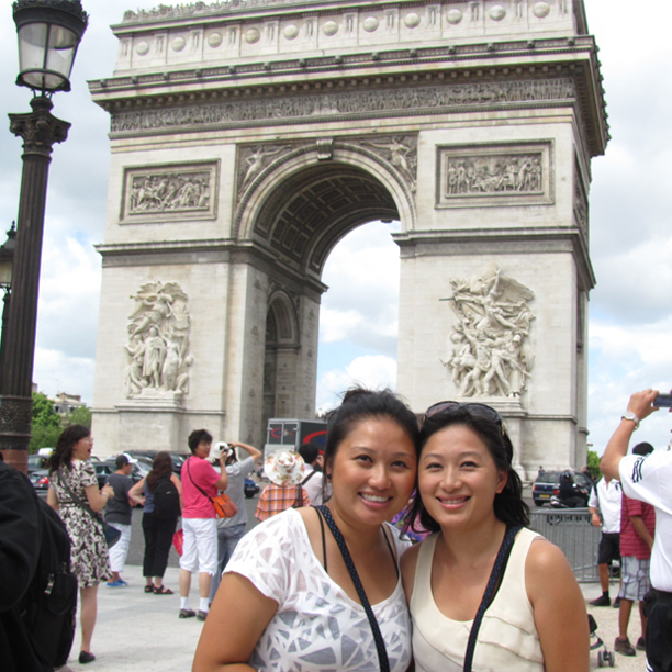 With my best friend, Pa Kou, in front of the Arc de Triomphe, Paris, France.  July 14, 2010.