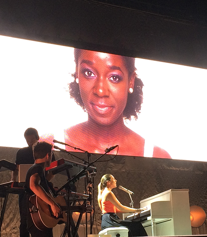 "Colbie Caillat performing her powerful hit song, ""Try"", written for the messages she received as an artist in the mainstream world."
