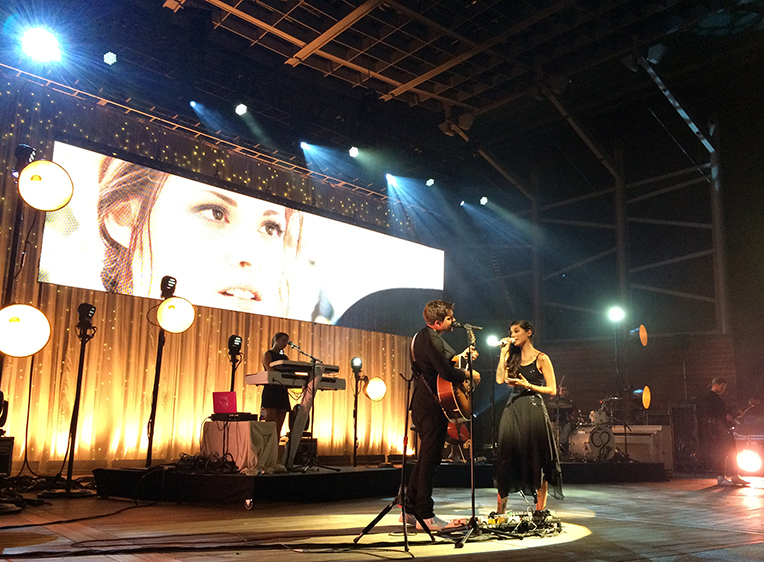 "Christina Perri performing ""A Thousand Years"" with her incredible band."