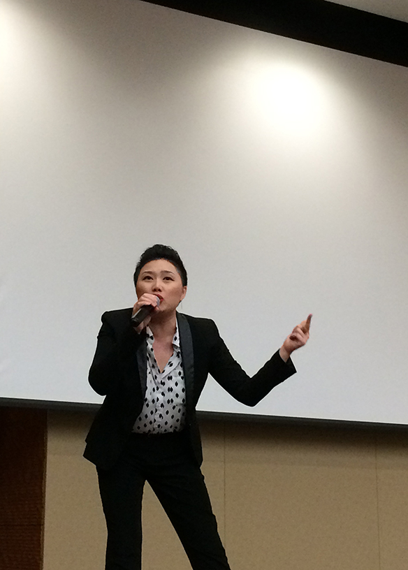 "Singing ""Hluav Taws"" at the 12th Biennial Hmong Culture Night at UW-Madison on Saturday night."