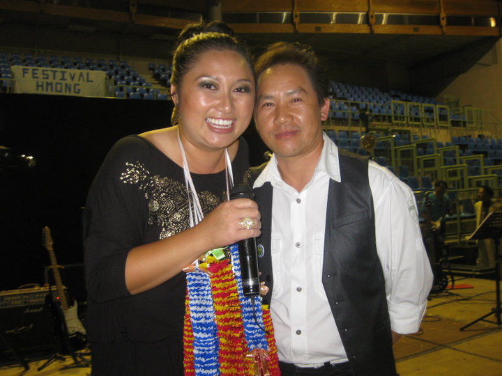 Performing in France and taking a quick photo with Ly Dang, July 17, 2010.