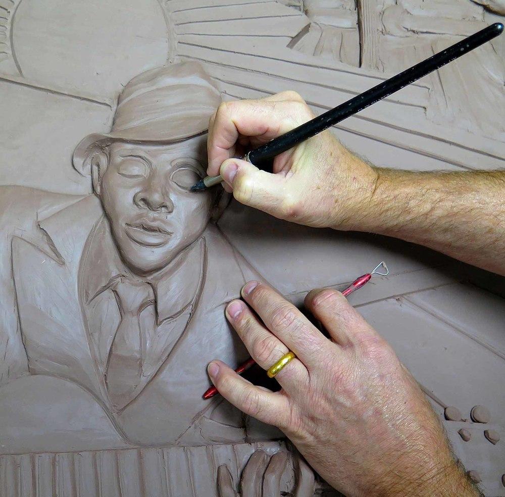 Robert Johnson and Brad's hand.jpg