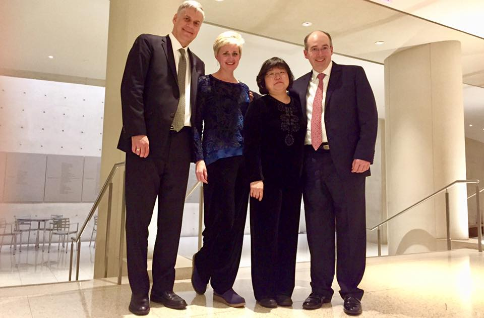 L to R: Stephen Rose, Jeanne Preucil Rose, Mark Kosower, Jee-Won Oh