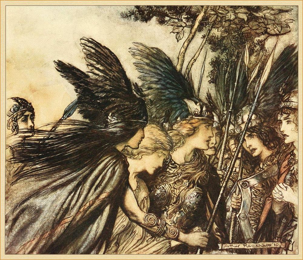 """Arthur Rackham, """"The Valkyrie,"""" 1910"""