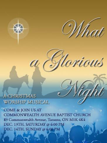 Christmas Cantata 2014 invitation