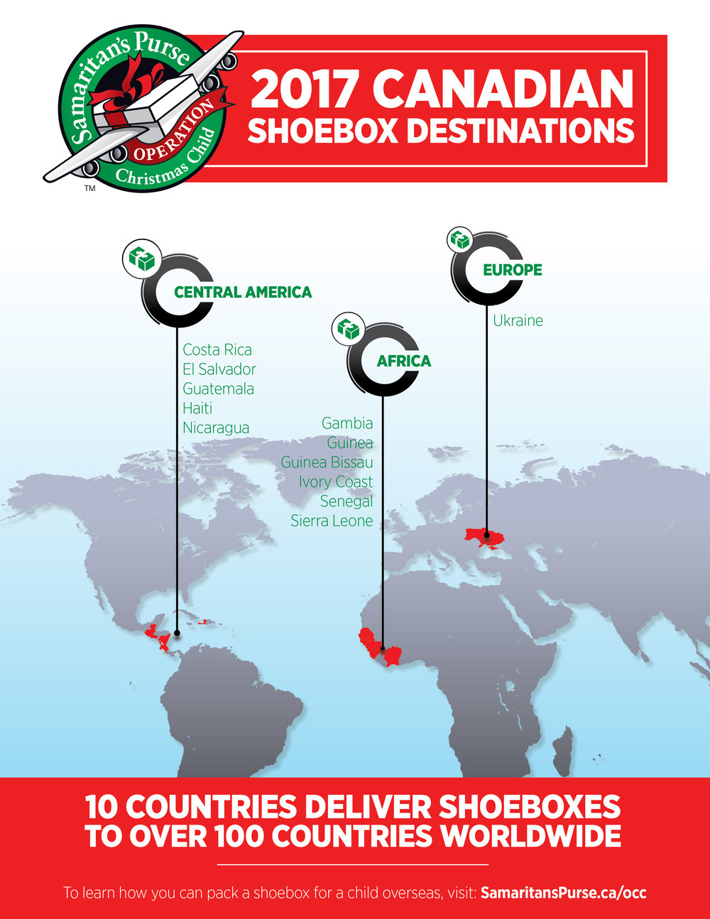 2017 Canadian Shoebox Destinations