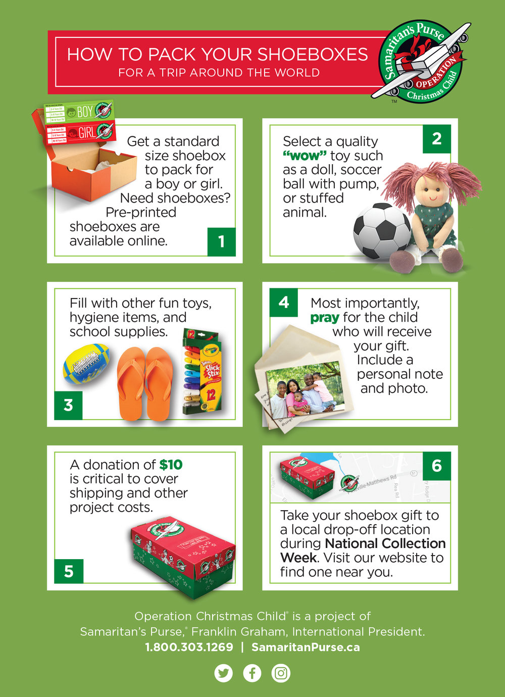 How to pack your shoeboxes