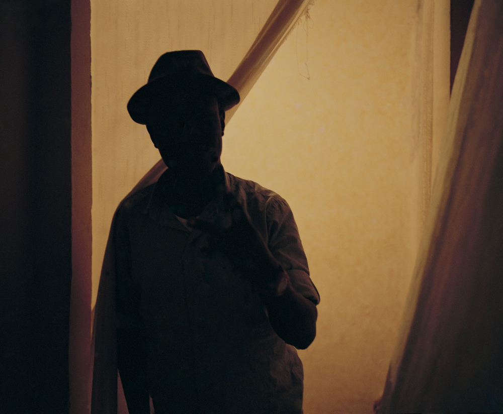 I Nigerian migrant in his home in Tangier, Morocco.