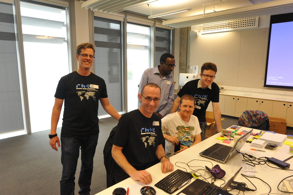 Ali and his team of hackers at the December hackathon in Melbourne