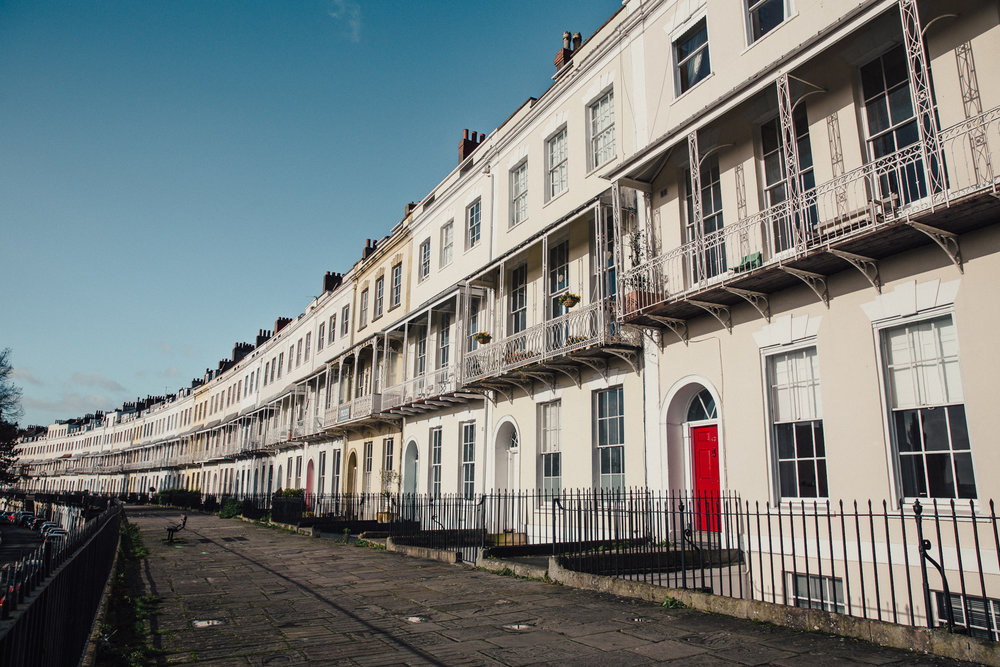 Royal York Crescent is probably the most beautiful street in Bristol.