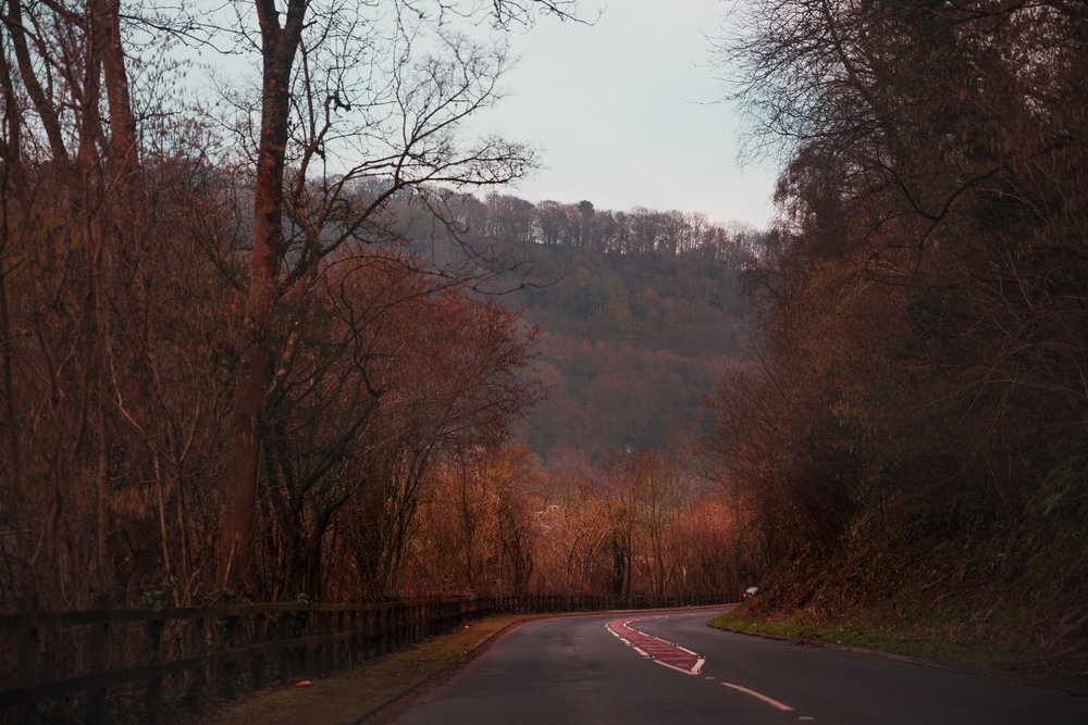 Driving along the border of England and Wales in the Wye Valley over the weekend.