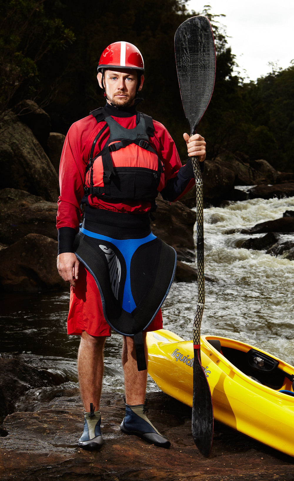 Tom, kayaker