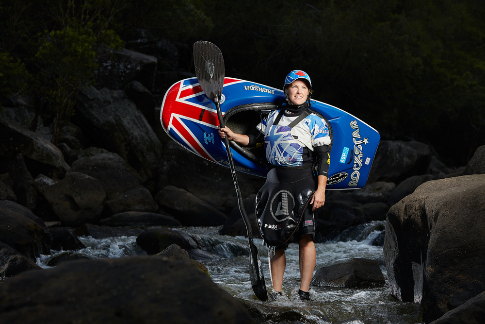 Claire O'Hara. 8 time Freestyle Kayak World Champion