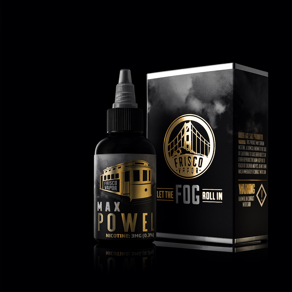 Label & Packaging | Max Powell by Frisco Vapor