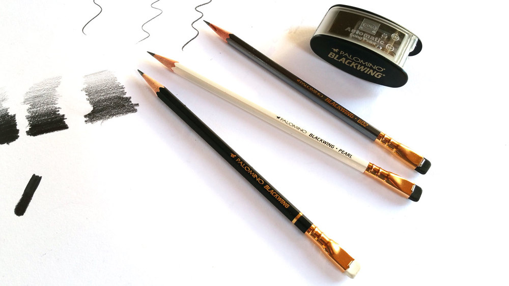 From top - Palomino Blackwing Sharpener, The 602 (Twice the speed, half the pressure), The Pearl and the original Blackwing