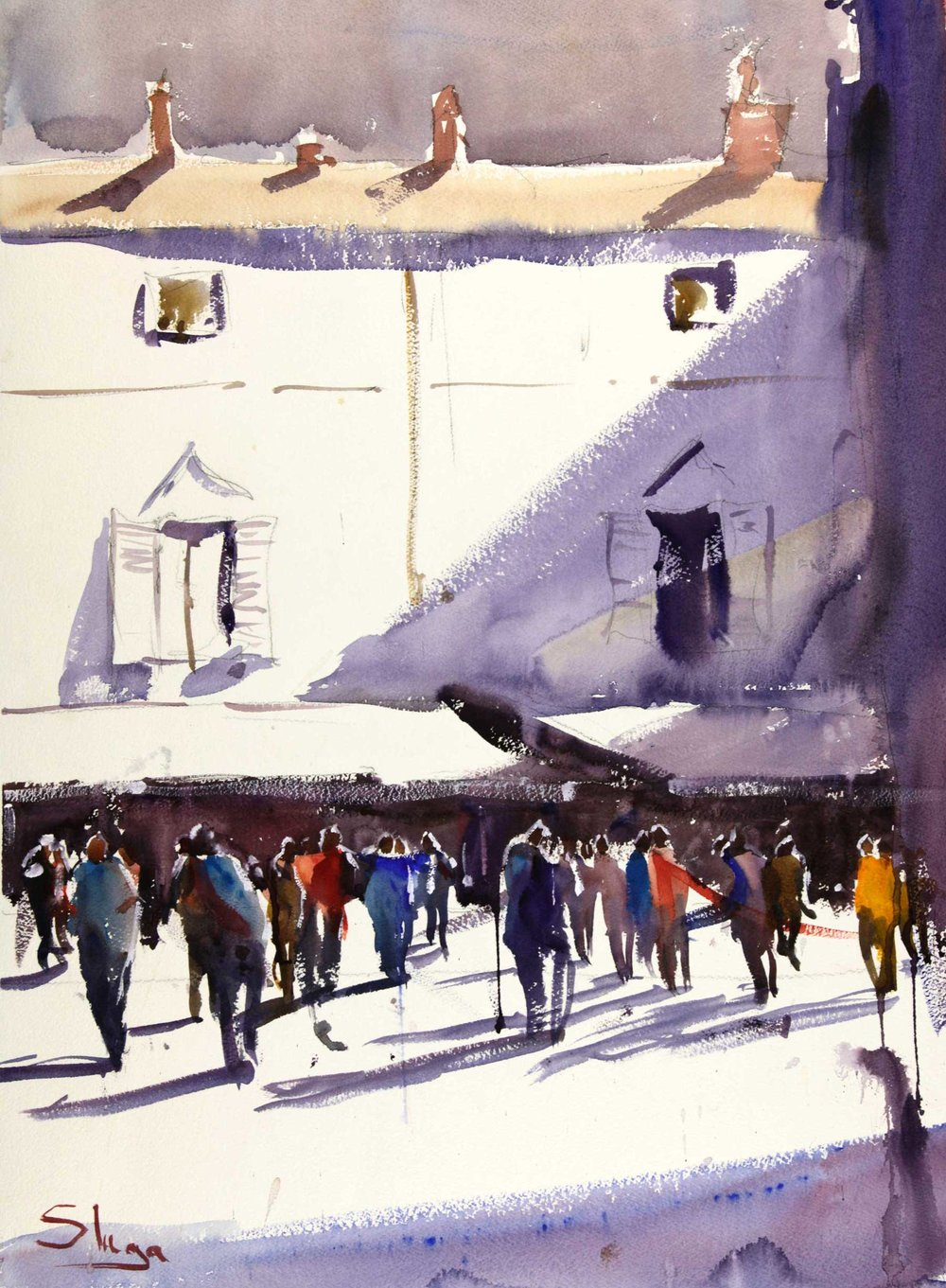 Paris Back Street 55 x 75 cm