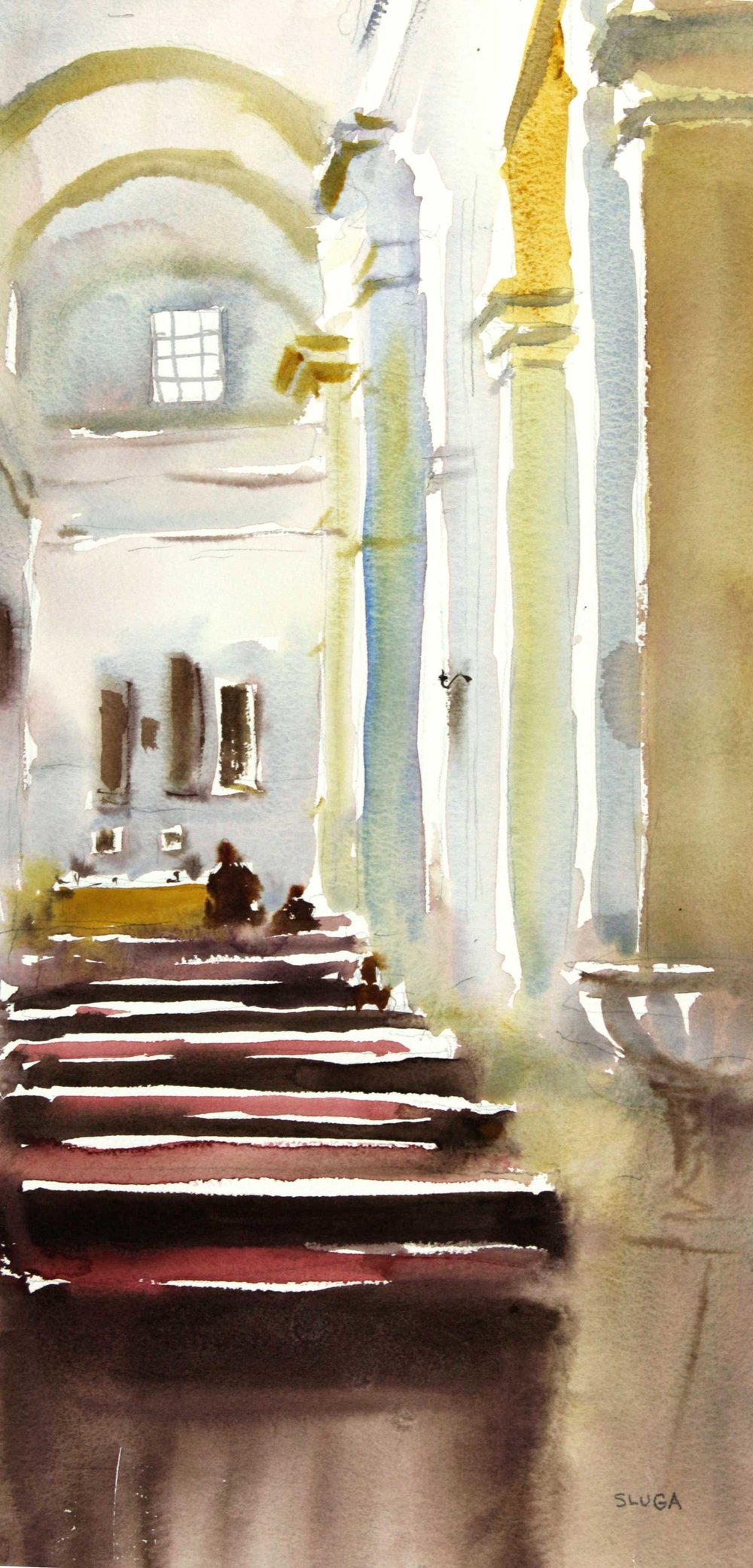 Sunday Church 28 x 55 cm