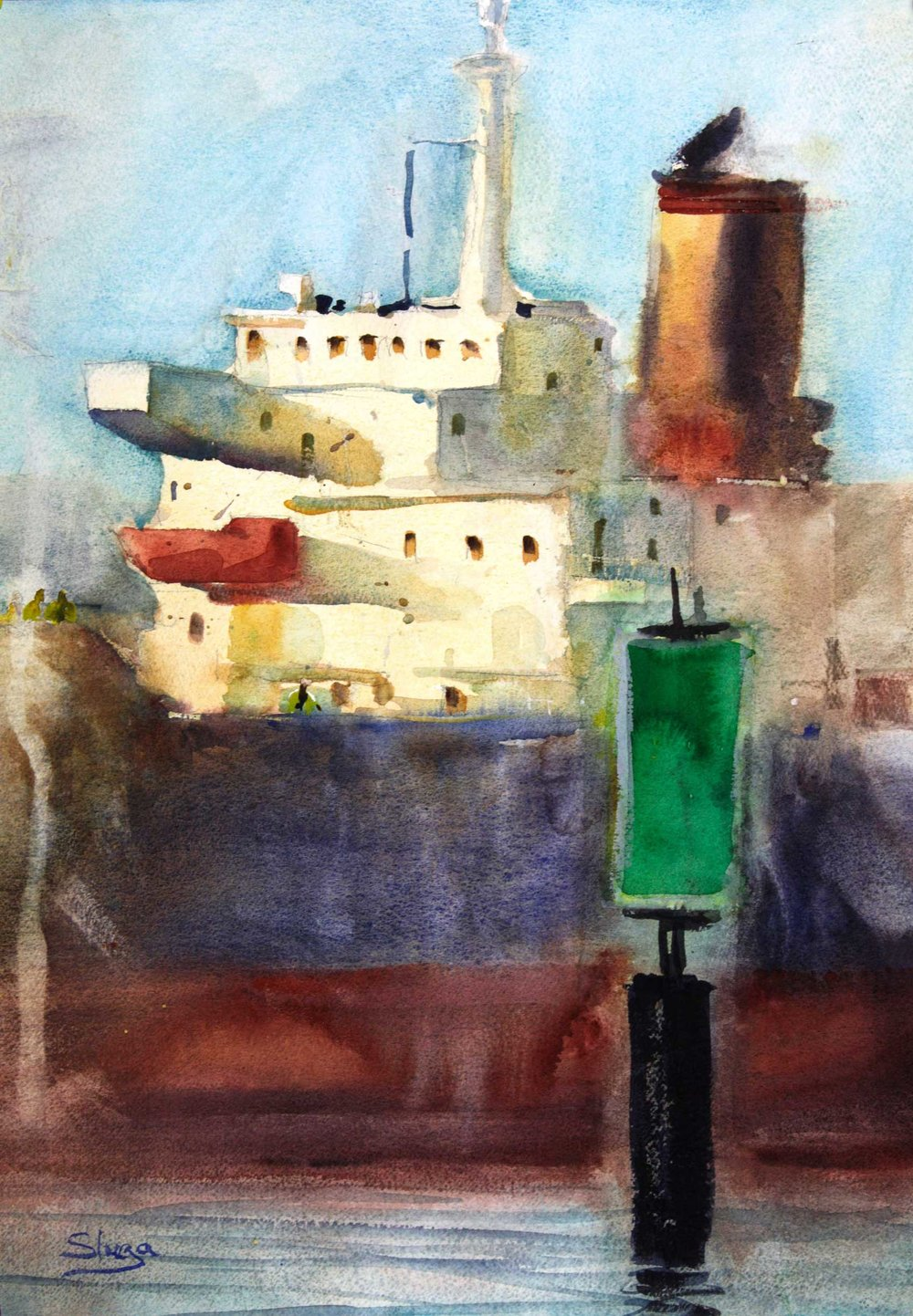Ship Side 37 x 53 cm