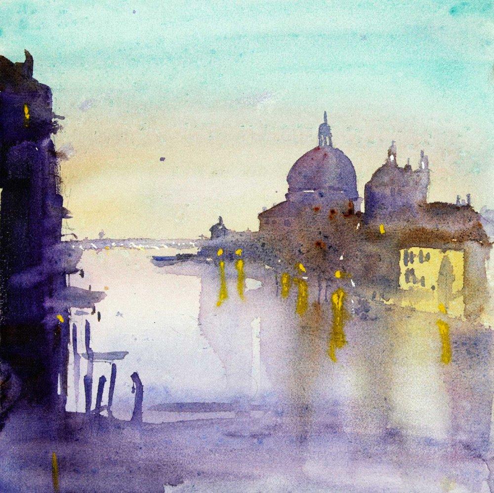 Venice at Dusk 30.5 x 30.5 cm