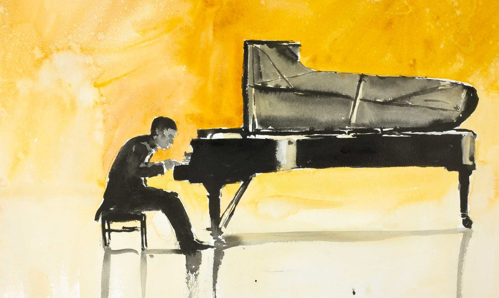 The Pianist 53 x 33 cm