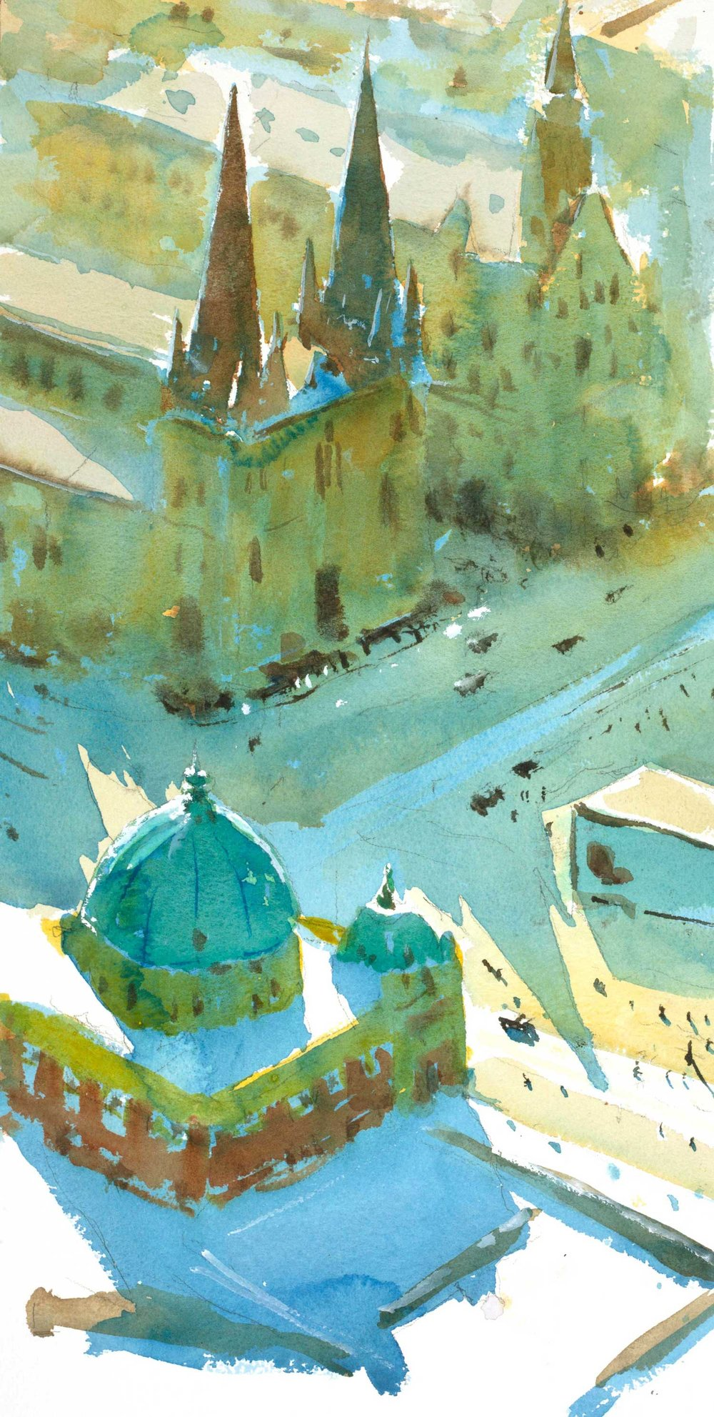Over Flinders Street 25 x 49 cm