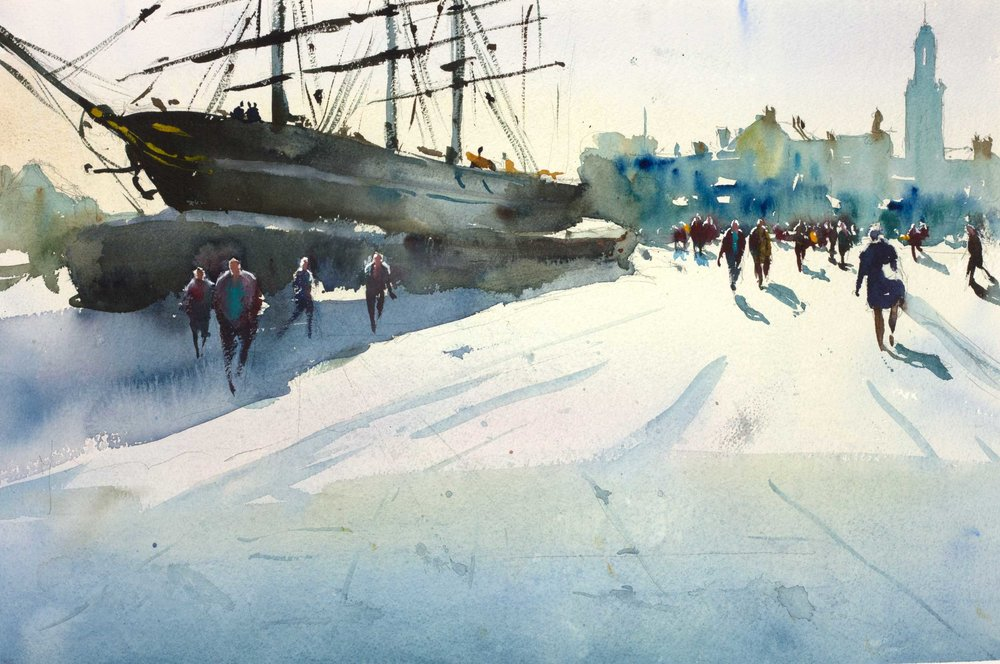 Cutty Sark 54 x 35 cm (Featured on recent London  APV Film)