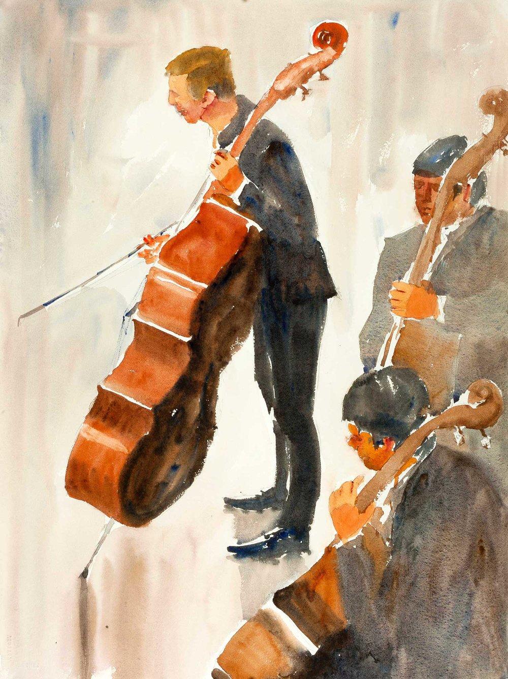 Double Bass 55 x 75 cm