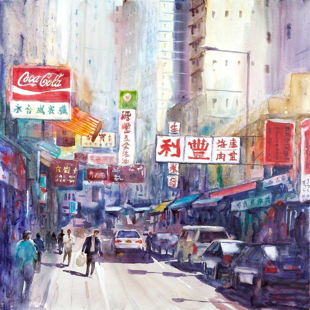Back Street, Hong Kong 91 x 91 cm