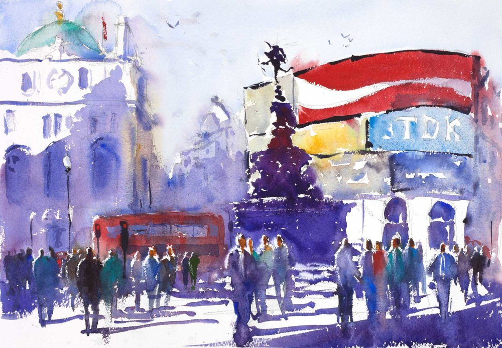 Piccadilly 45 x 32 cm (Featured on recent London APV Film)