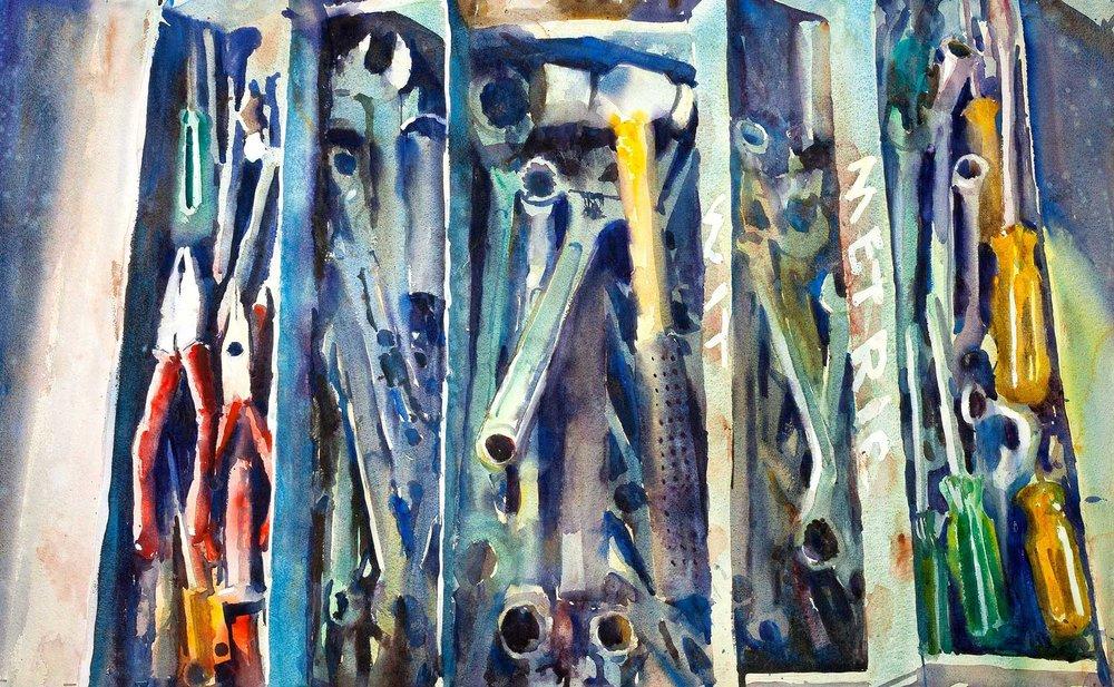 Reg's Tool Box 115 x 69 cm