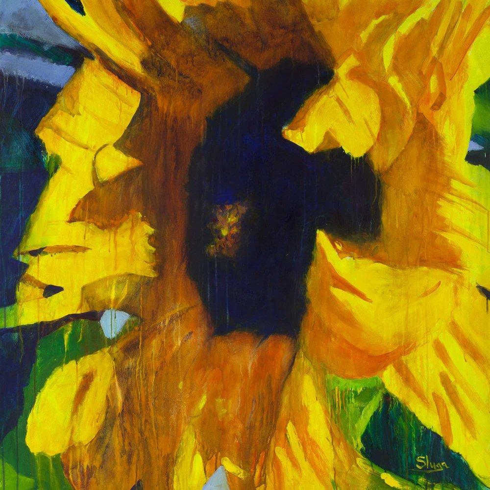 Sunflower 122 x 122 cm