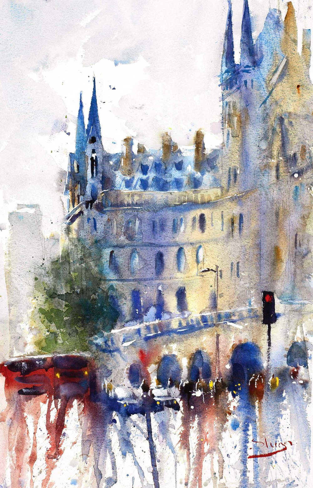 St Pancras 35 x 54 cm (Featured on recent London APV Film)