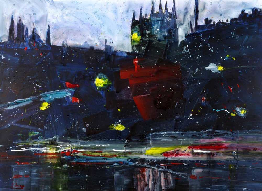 Rainy Night London 81 x 59 cm