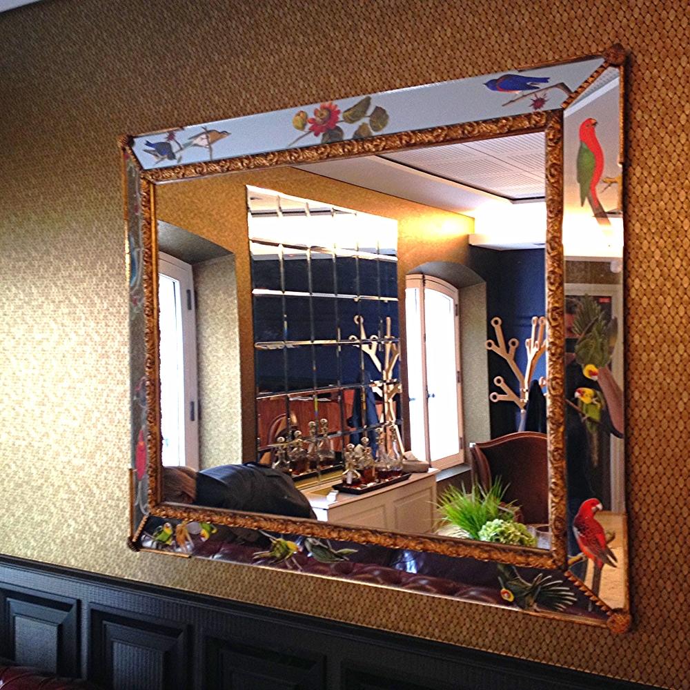 """Miroir """"Oiseaux d'Amérique"""""""