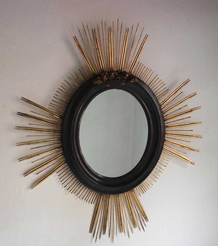miroir soleil roses