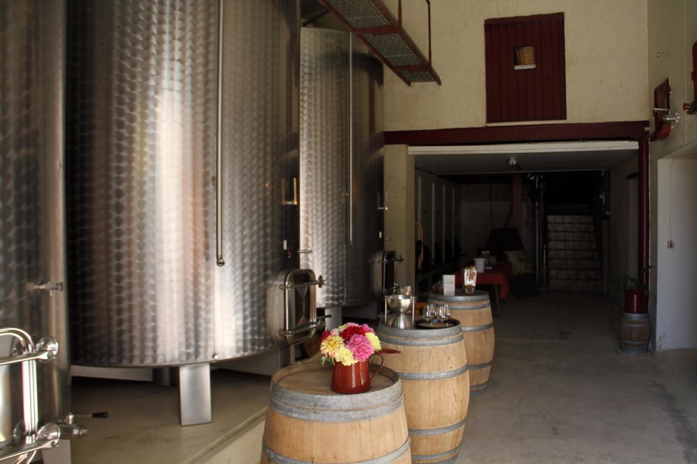 Vignoble Denis cellar room.jpg