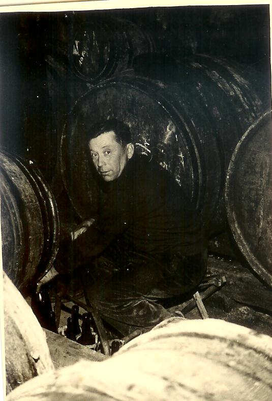 Philippe's grandfather bottling from the barrel